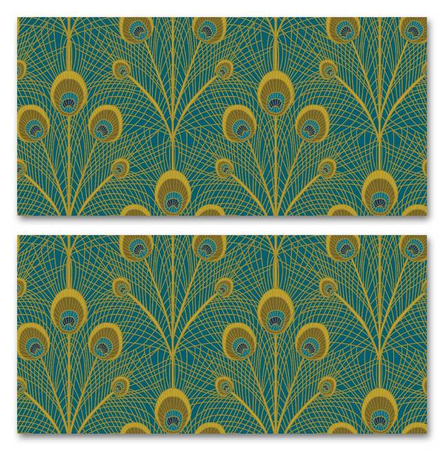 Peacock Feathers - Wallpaper Tiles