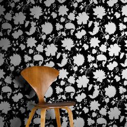 Tres Bien, Ebony - Wallpaper Tiles