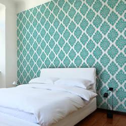 French Garden Damask, Lush - Wallpaper Tiles