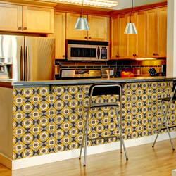 Mod Madness, Marigold - Wallpaper Tiles