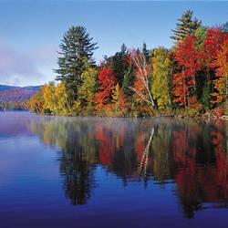 USA, New York, Franklin Falls Pond