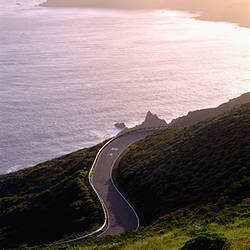 USA, California, coastline road