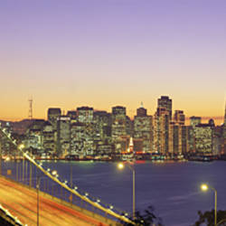 Bay Bridge At Night, San Francisco, California, USA