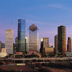 USA, Texas, Houston, twilight