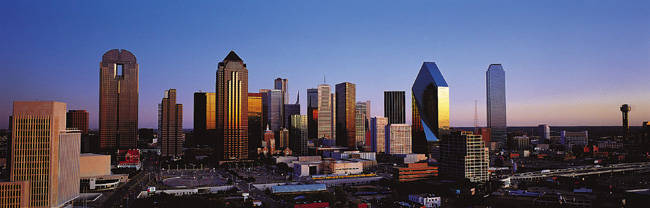 USA, Texas, Dallas, sunrise