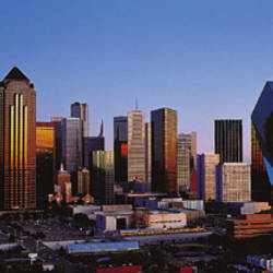 USA, Texas, Dallas, sunrise