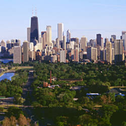 Aerial View Of Skyline, Chicago, Illinois, USA