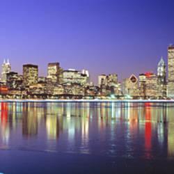 USA, Illinois, Chicago, night