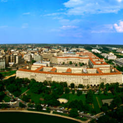 Aerial View Of The City, Washington DC, District Of Columbia, USA
