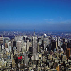 Aerial View, New York City, NYC, New York State, USA
