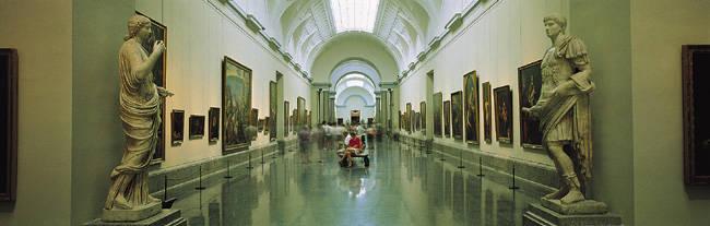 Interior Of Prado Museum, Madrid, Spain