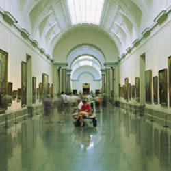 Interior Of Prado Museum, Madrid, Spain