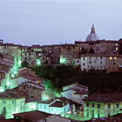 Light Illuminated In The City, Siena, Tuscany, Italy