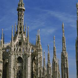Facade of a cathedral, Piazza Del Duomo, Milan, Italy