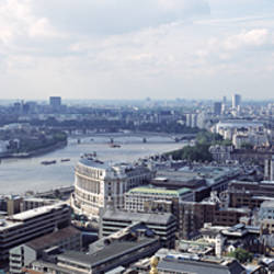 England, London, Aerial view from St. Paul's Cathedral