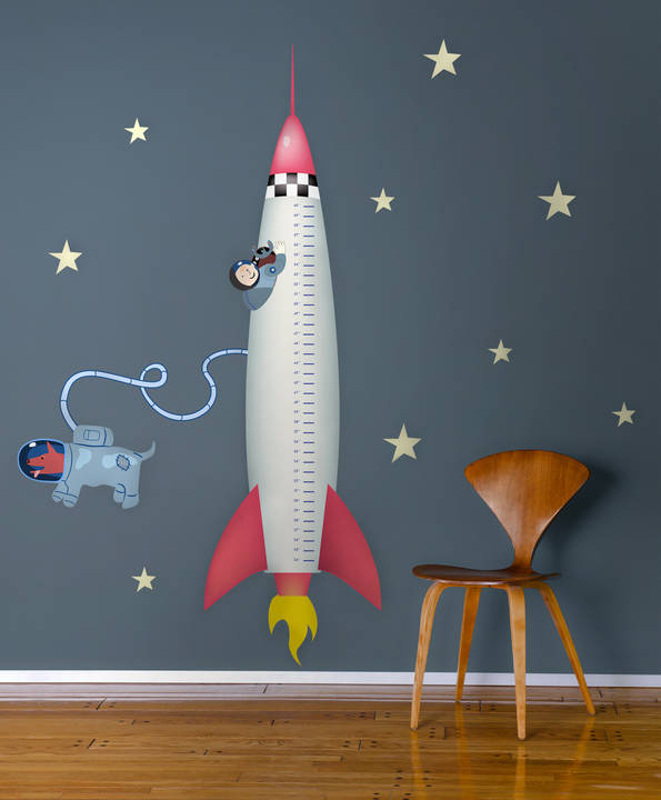 Rocket Growth Chart - Wall Decal