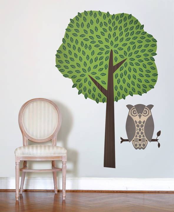 Owl and Tree - Wall Decal