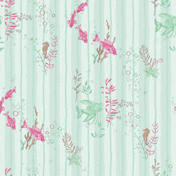 "Fish Wallpaper by Cynthia Charette Featured In The Movie ""Judy Moody and The Not The Bummer Summer"""