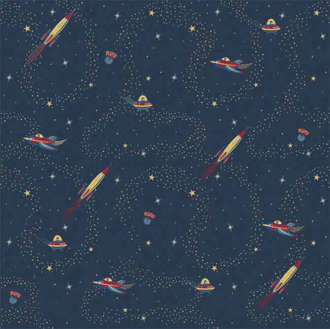 Space Wallpaper by Cynthia Charette