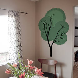 shaggy tree wall decal - Design Wall Decal