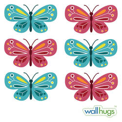 Butterflies, Gemstones - Wall Decal