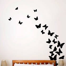 butterflies midnight wall decal - Design Wall Decal