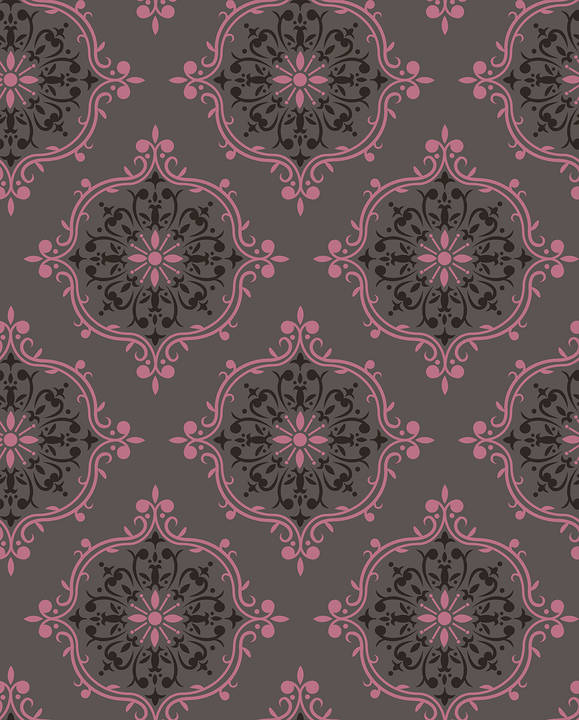 French Kiss, Rose - Wallpaper Tiles