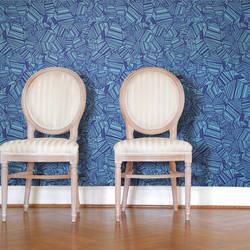Pyrite, Blue - Wallpaper Tiles