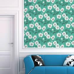 Poppycock, Teal - Wallpaper Tiles