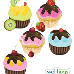 Fancy Cupcakes - Wall Decal