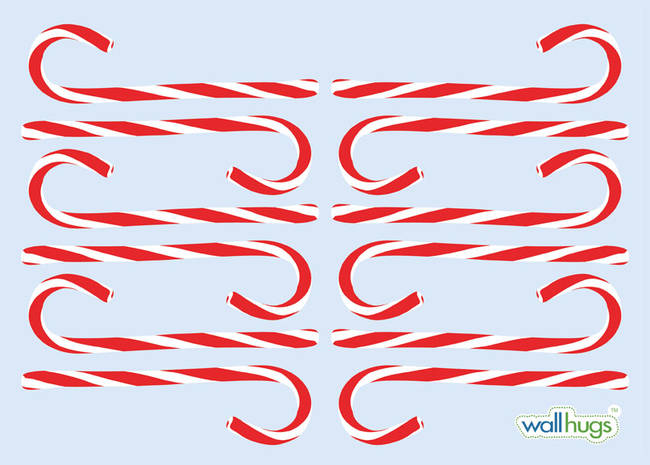 Candy Canes - Christmas Wall Decal