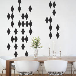Harlequin Diamond, Black - Wall Decal