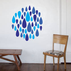 Sapphire Drops - Wall Decal