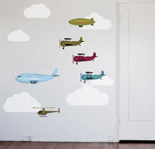 Airplanes and Friends - Wall Decal