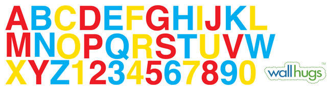 Big Alphabet and Numbers - Wall Decal