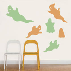 ghosts wall decal