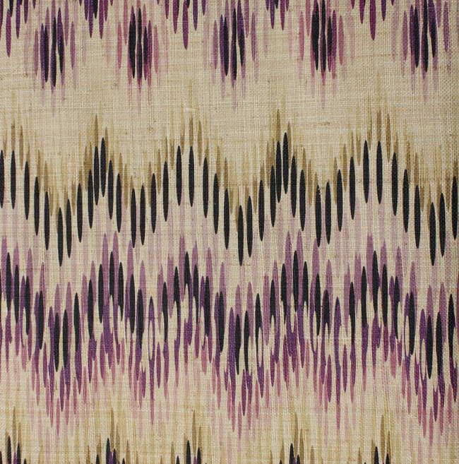 Miami Ikat on Woven Grasscloth