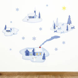 Silent Night - Christmas Wall Decals
