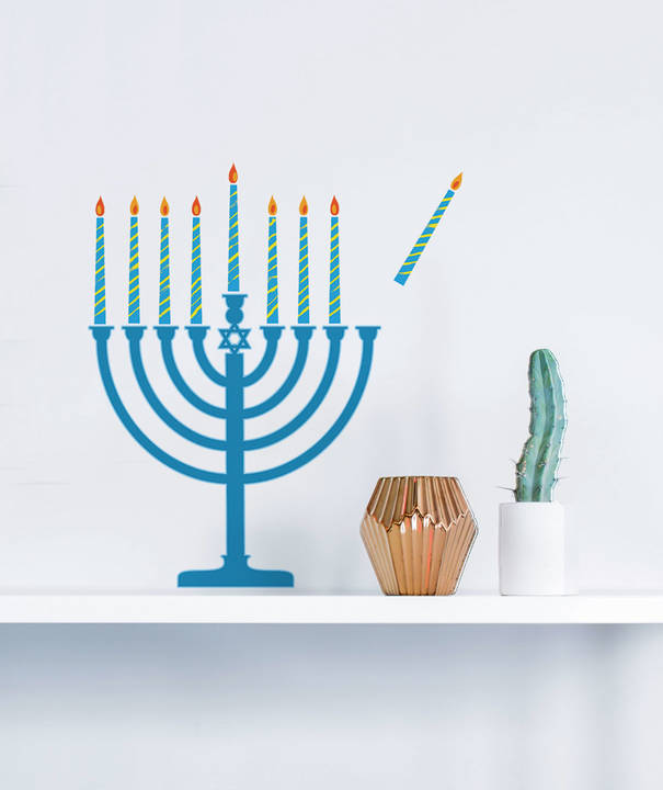 Menorah - Hanukkah Wall Decal