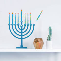 Menorah - Hanukkah Wall Decal