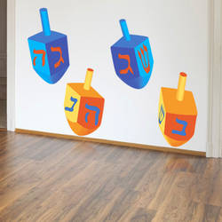 Large Dreidel - Hanukkah Wall Decal