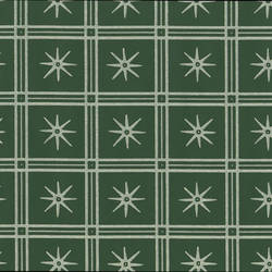 Green Squares White Lines and Stars