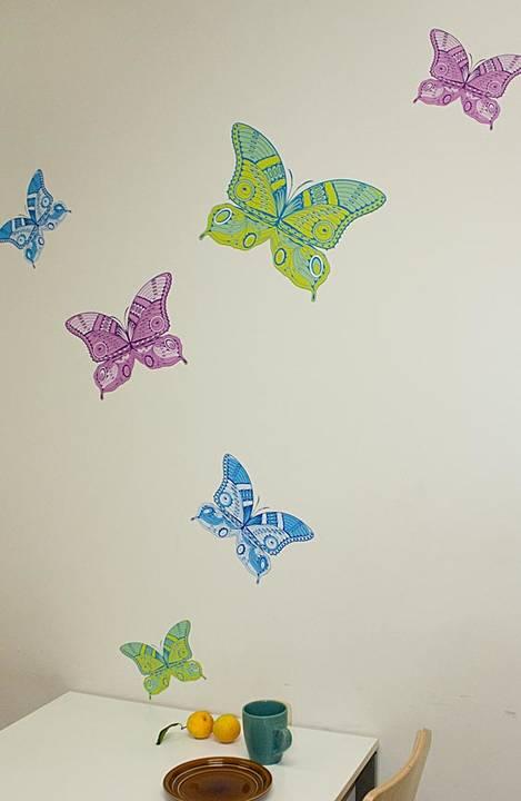 Butterflies, Opal - Wall Decal