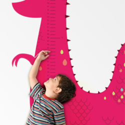 Dinosaur Growth Chart - Wall Decal
