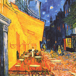 Terrasse De Cafe La Nuit