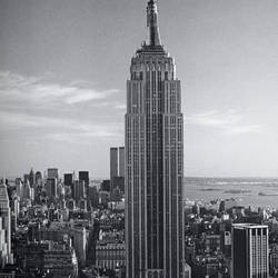 Empire State Building Giant Art Mural Wallpaper:671
