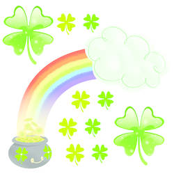 St. Patrick's Day Wall Stickers_Rainbow: SWC001