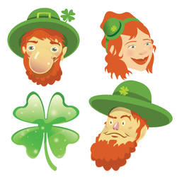 St. Patrick's Day Wall Stickers_Leprechaun: SWC002