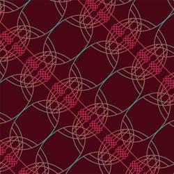 Neural Spirograph, Burgundy Pink