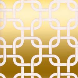 White & Gold Mylar Geometric Squares Wallpaper: VCC0834